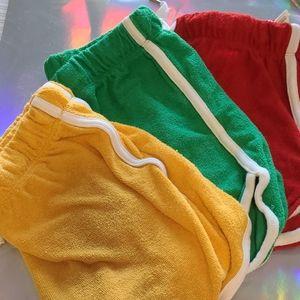 3 Terry cloth shorts